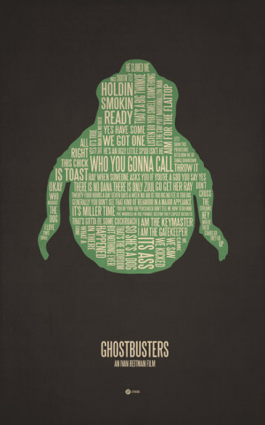 has designed some poster art made up of entirely of movie quotes ...