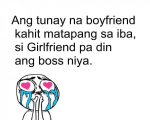 tagalog quotes about boyfriend quotesgram