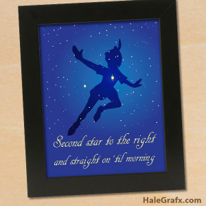 peter pan quote poster FREE Printable 8x10 Peter Pan Quote Poster