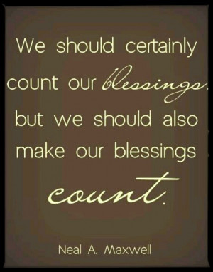 Make your Blessings Count