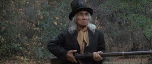 Lone Watie ( Chief Dan George ) with an Enfield 1853 rifle.