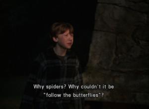 butterflies, fear, harry potter, qqqq, ron weasley, spiders