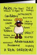 Zodiac Birthday - Aries card - Product #391466