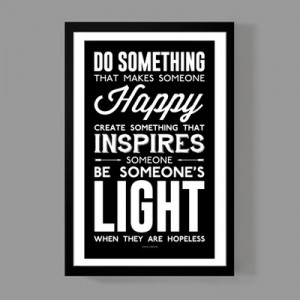 Dave grohl custom poster - be someone's light when they are hopeless ...