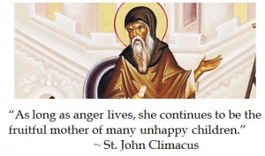 St John Climacus on Anger #quotes