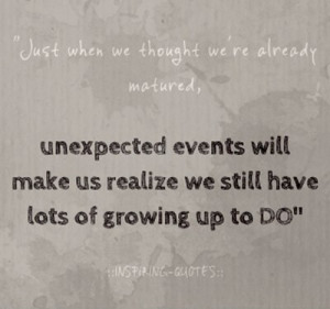 Inspiring quotes, sayings, unexpected events