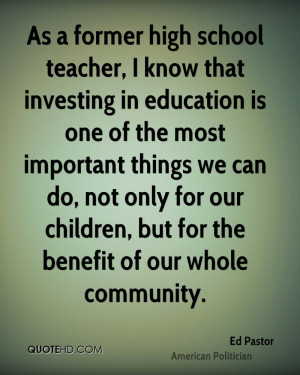 Ed Pastor Education Quotes