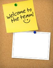 Welcome To Our Team Card