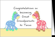 Congratulations Great Grandparents-Twins card - Product #818694