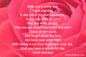 wish you a lovely day good morning a day full of joy and happiness is ...
