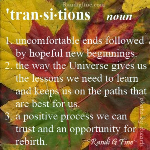 Life Transitions Picture Quote