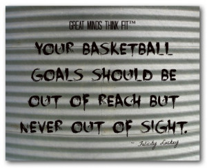 Your basketball goals should be out of reach but never out of sight ...