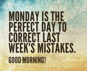 Monday Morning...