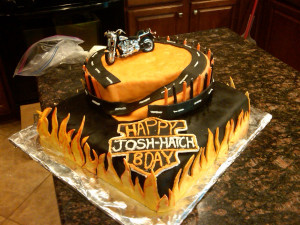 Harley Davidson Happy Birthday Cake