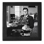 Humanist John F. Kennedy Keepsake Box