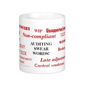 Auditing Swear Words!! Mugs