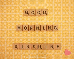 Yellow Wall Art - Good Morning Sunshine Art - Scrabble Quotes - Yellow ...