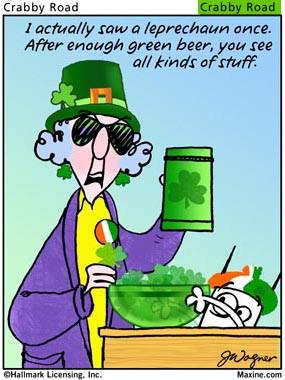 Maxine celebrates Paddy's Day