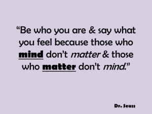 This week, I motivate us to remember to be us and say what is on our ...