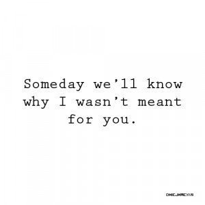 We Are Just Not Meant To Be Quotes #1