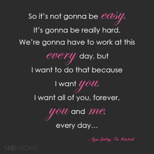 The Notebook love quotes