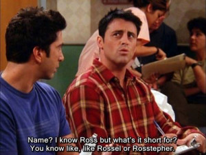 Favourite Quote from Friends – Joey Tribbiani: 'How you Doin'