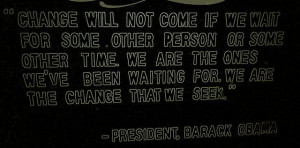 President #Barak #Obama #quote #change