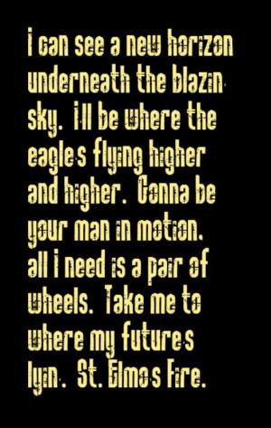... St Elmo's Fire - song lyrics, music lyrics, song quotes, music quotes