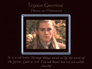 Legolas Greenleaf, Prince of Mirkwood