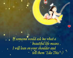 Cute Cartoon Life Quotes Wallpaper Free Download Wallpaper with ...