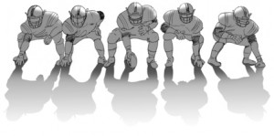 Football Lineman Stance Cartoon Offensive linemen may be the