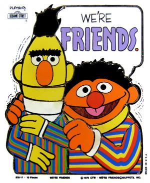 Playskoo1976lErnieBertFriends13pieces