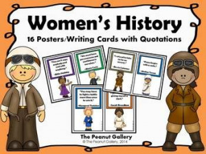 posters work perfectly as a bulletin board display for Women's History ...