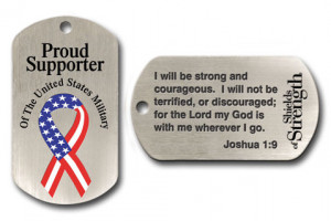 Proud Supporter of the U.S. Military Dog Tag Necklace