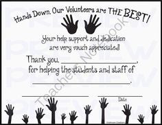 Odd, Principal Appreciation Quotes, Quotes Hands, Classroom Volunteers ...