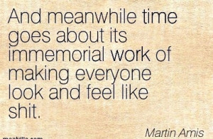 Quote by Martin Arnis - And Meanwhile time Goes About its Immemorial ...