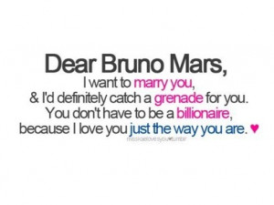 bruno mars, dear, grenade, inspire, life, love, lyric, marry, quotes ...