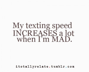 My texting speed quote