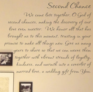 Second Chance We came late together, O God of second chances, making ...