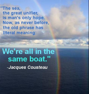 We're All In The Same Boat.
