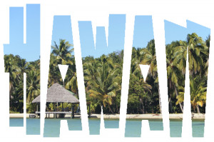 ... - Hawaii in words tropical removable wall decal. wall sticker quotes