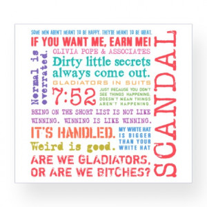 Scandal Quotes [multicolor] Wine Label
