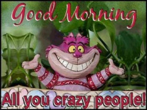 Good Morning all you crazy people!