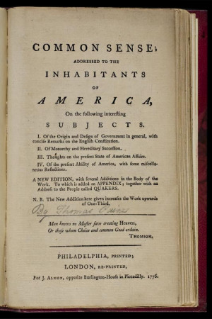 Common Sense by Thomas Paine ^   1776   Thomas Paine