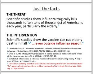 discussing Doshi, epidemiology, flu vax