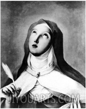 ... of St. Theresa of Avila , a painting by Francisco De Goya