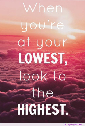 Check out this motivational religious quote about looking to the ...