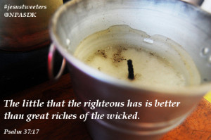The little that the righteous has…