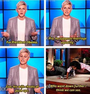 Funny Ellen Degeneres...