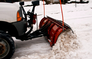 Snow Plow For Snow Removal By Akron Snowmen